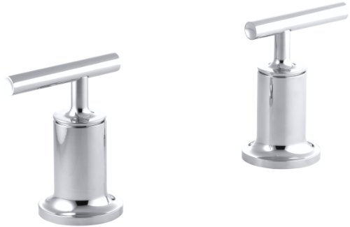 KOHLER K-T14429-4-CP Purist Bath, Deck, Wall-Mount High-Flow Bath Trim, Polished Chrome - Bath Faucet Deck Mount 4