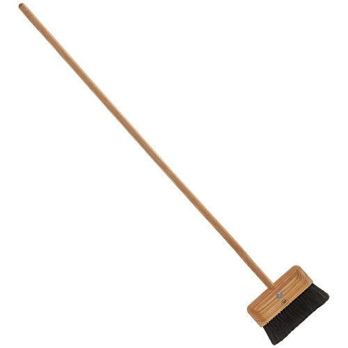 Redecker Designer Broom and Dustpan Set, Horse Hair, Oiled Ash Wood and Stainless Steel, 54-Inches by REDECKER