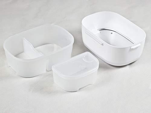 BEPER - Scaldavivande Elettrico Portatile, 2 Contenitori Removibili, Piastra Riscaldante in Acciaio, Posate di Plastica… 4