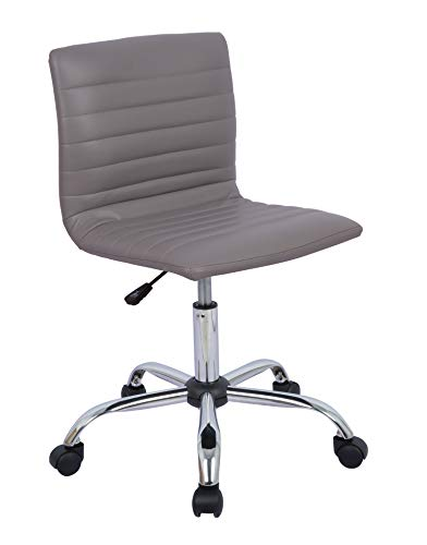 AmazonBasics Modern Adjustable Low Back Armless Ribbed Task Chair, Grey