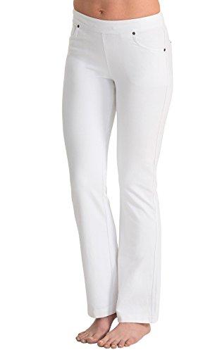 PajamaJeans Womens Lightweight Bootcut Stretch Knit Denim Jeans, White, 3X 24-26W