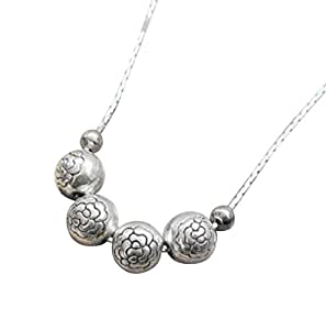 10145 plata tibetana colgante collares joyas de plata de ley de calidad de la joya