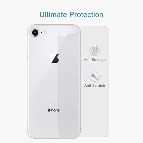 DESHENG Clear Screen Protector 100 PCS for iPhone 8 /& 7 0.3mm 9H Surface Hardness 2.5D Curved Edge Explosion-Proof Premium Tempered Glass Back Screen Protector Glass Film