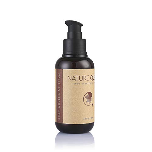 Nature Queen Anti-Aging Root Nourishing Serum 9 Essential Oils and Peptide Complex for Thinning Hair Moisturize and Promote Healthy Hair Growth Safe for all Hair Types Gluten-free