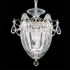 Schonbek 1243-48 Swarovski Lighting Bagatelle Pendant Lighting Fixture, Antique Silver ()