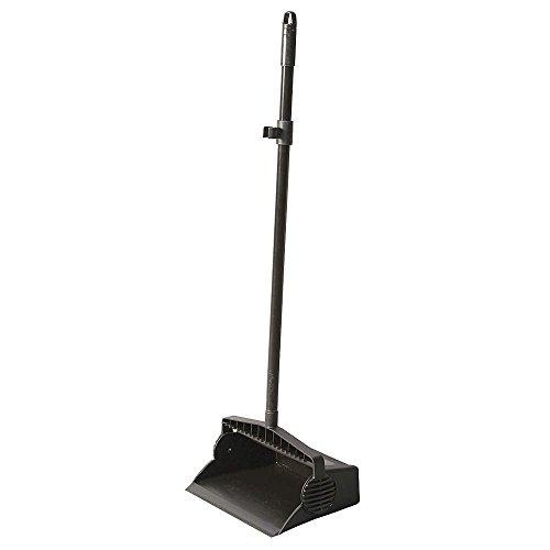 Tough Guy Lobby Dust Pan, Black, Aluminum/Plastic