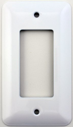 Mulberry Princess Style White Single Gang GFI/Rocker Opening Switch Plate