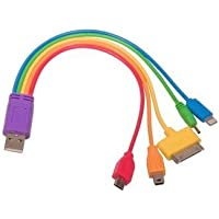Universal 5 in 1 USB Rainbow Charger