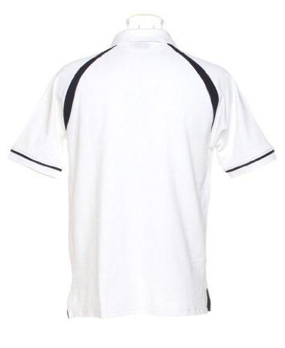 Oak Hill Piqué Poloshirt, Farbe:White/Navy;Größe:XL