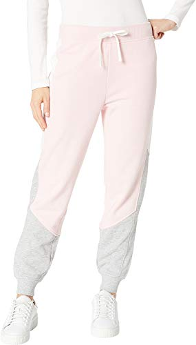 Juicy Couture Women's Track Terry Color Block Pants Palisades Pink/Heather Cozy/Vanilla Large 28 28 ()