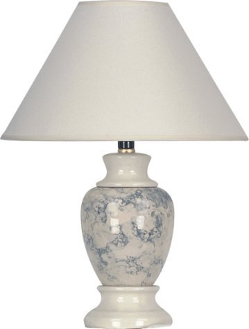 S.H. International Ceramic Table Lamp 15''H - Ivory by S.H. International