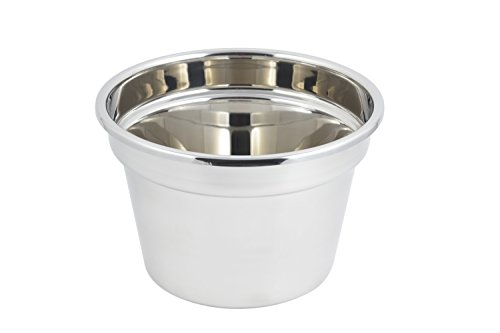 Bon Chef 5214 Stainless Steel Soup Tureen, Plain Design, 11 quart Capacity, 12'' Diameter x 8'' Height by Bon Chef