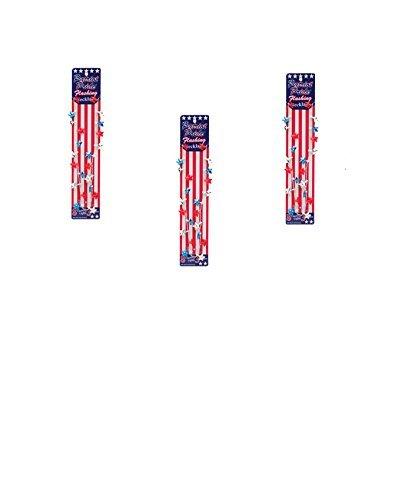 (3) USA Patriotic Flashing Red White &