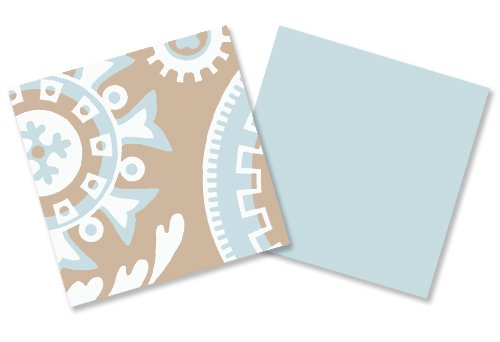 Sweet Jojo Designs 9-Piece Blue and Taupe Hayden Gender Neutral Baby Bedding Girl or Boy Crib Set by Sweet Jojo Designs (Image #5)