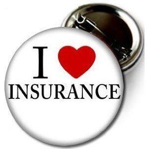 I Love Insurance Pinback Button 1 25  Pin   Badge Heart Progressive Flo