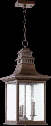 - Quorum 7045-3-86 - Magnolia 3 Light Pendant in Oiled Bronze