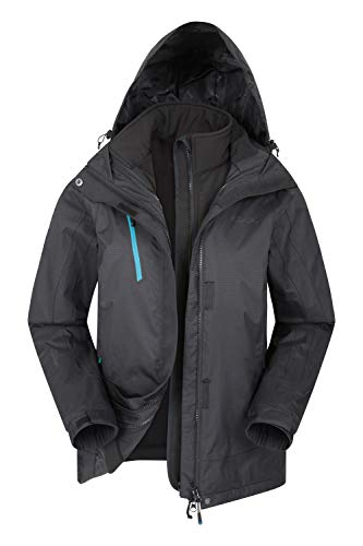 Mountain Warehouse Bracken Extreme Womens 3 in 1 Waterproof Jacket – Breathable Rain Jacket, Thermal Tested Raincoat…