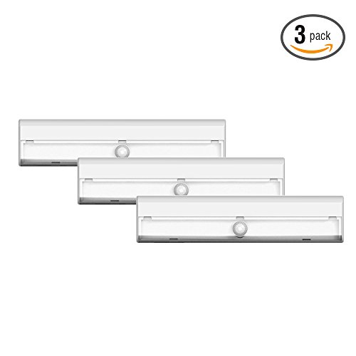 Aa Led Light (Brilliant Evolution BRRC127 Wireless LED Stair / Path Light 3 Pack With Motion Sensor - Operates On 3 AA Batteries - Perfect For Interior Step , Stairwell And Hallway Lighting)