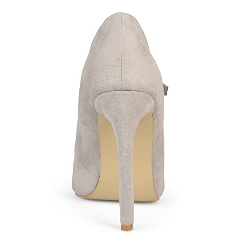 Journee Collection Womens Cut-out Pointed Toe Heels Grey yaeMStiDj