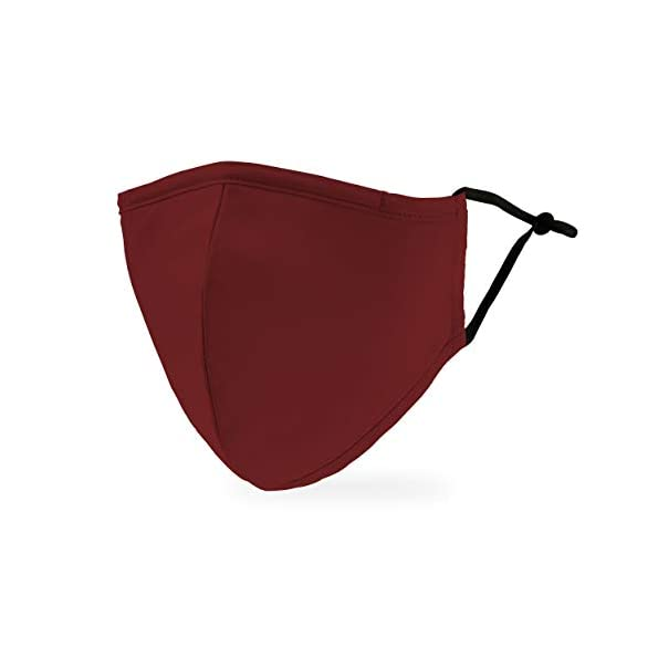 Weddingstar-waschbare-Mundschutzmasken-aus-Stoff-Wiederverwendbar-und-verstellbar-mit-Staubfiltertasche-Dunkelrot