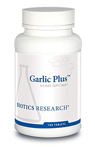 Biotics Research Garlic PlusTM – Pure Garlic Concentrate Plus Vitamin C & Chlorophyllins, Supports Cardiovascular Health, Immune Function, Strong Antioxidant 100 Tablets