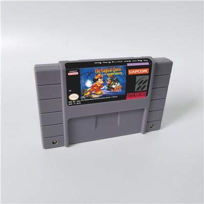 - Game card - Game Cartridge 16 Bit SNES , Game The Magical Quest starring Mickey Mouse - Action Game Card US Version English Language