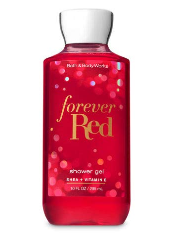 Bath and Body Works FOREVER RED with Shea and Vitamin E Shower Gel 10 Fluid Ounce (2018 Limited Edition) (Red Shower)