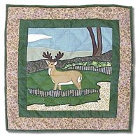Pillow Deer Toss - Patch Magic Wilderness, Deer Toss Pillow, 16-Inch by 16-Inch