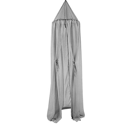 Kukakoo Fashion 240cm Baby Kids Room Bed Curtain Pointed Dome Netting Chiffon Hung Mosquito Net - Grey