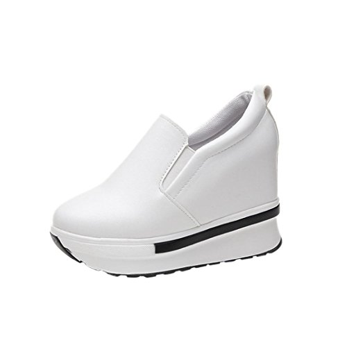White Round Solid Shoes hunpta Spring Shoes Flatform Toe Wild Women's Casual wWBvFq4
