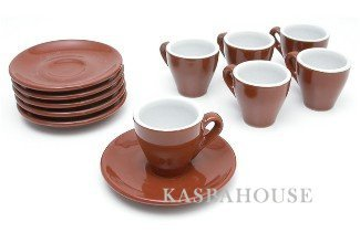 - Italian Cafe Style Milano Espresso Cups - Set of 6