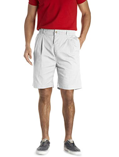 Creekwood Elastic-Waist Pleated Twill Shorts White