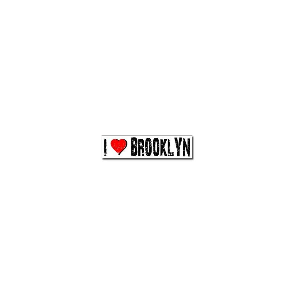I Love Brooklyn   Window Bumper Sticker