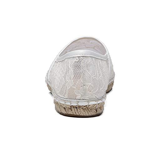 Blanc Compensées APL10874 EU Sandales 5 36 Blanc Femme BalaMasa w4IA1q