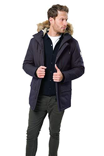 Up Blu Uomo Grady Zip O Giubbotto Threadbare Matrix Cappuccio Navy Cappotto Imbottito YYwqTgxCF