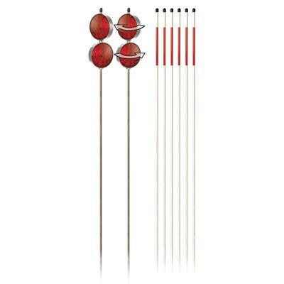 Venture Products Driveway Marker Set - Set of 8 Reflectors, Red, Model# -