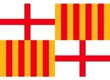 Grand Bandera de Ciudad de Barcelona 150*90 cm Satén Durabol .: Amazon.es: Deportes y aire libre