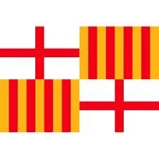 715cbf720312c Grand Bandera de Ciudad de Barcelona 150 90 cm Satén Durabol .  Amazon.es   Deportes y aire libre
