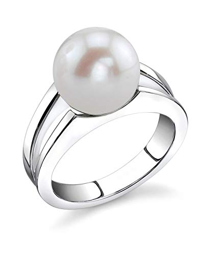 - THE PEARL SOURCE 10-11mm Genuine White Freshwater Cultured Pearl Kasandra Ring for Women