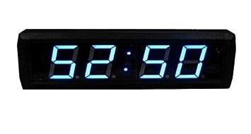 godrelish 2.3 Azul Gran LED Countdown reloj digital LED pared Countdown Timer 12/24