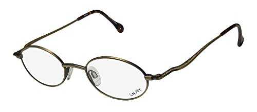 Enjoy 5838 Mens/Womens Oval Full-rim Eyeglasses/Eye Glasses (46-19-140, Antique - Shape For Eyeglasses Oval