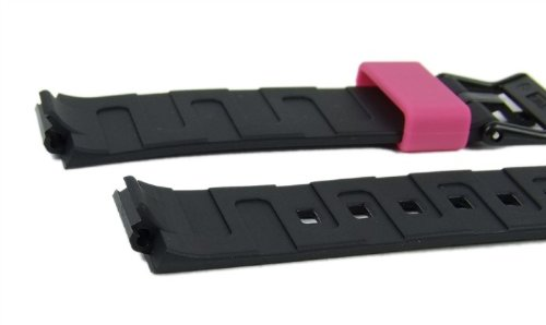 Casio watch strap watchband Resin Band black/Pink LDF-52-1AEF LDF-52 by Casio