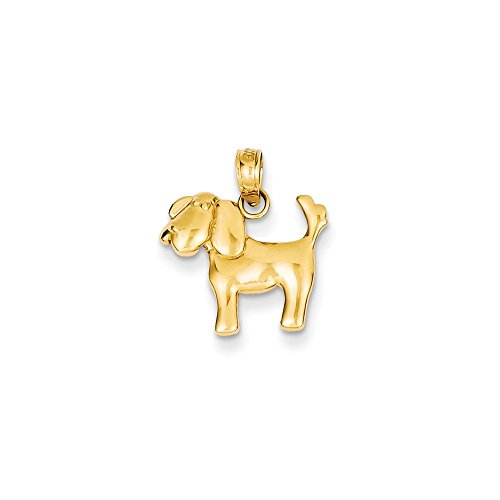 Diamond2Deal 14k Yellow Gold Polished Dog Charm from Diamond2Deal