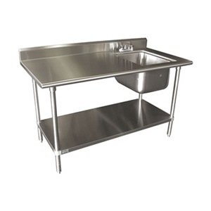 Single work table sink with faucet width 60 for Table th width not working