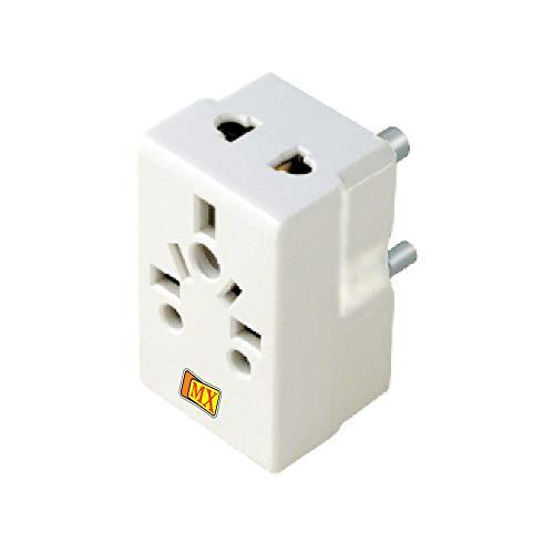 MX 3 PIN Multi Plug Adaptor   5 Amps  Pack of 2