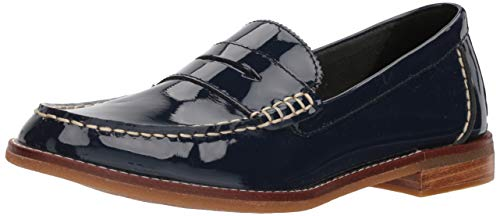 Sperry Blue Pennies (Sperry Women's Seaport Penny Patent Loafer, Navy, 8.5 W US)