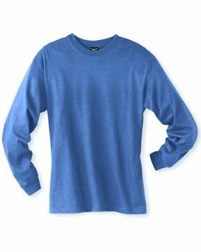 Hanes mens 6.1 oz. Long-Sleeve Beefy-T(5186)-DENIM BLUE-3XL