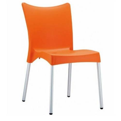 Juliette Resin Dining Chair - Set of 2 (Orange)