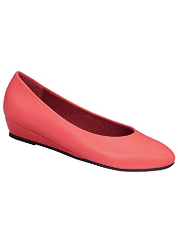 Jan Dress Flat Synthetic 7.5 Wide US Women/Coral (Coral Dress Shoes)