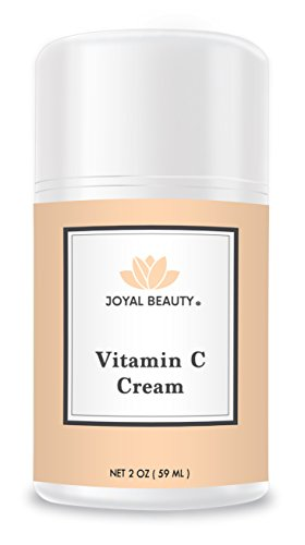 Organic Vitamin C Moisturizer Cream for Face, Neck by Joyal Beauty. Best Hydration Moisturizer with Essential Oils for Brightening, Wrinkles, Age Spots, Firming, Dark Circles and Skin Tones. 2oz